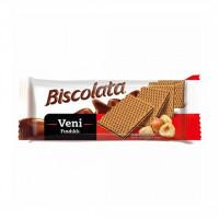 ویفر شکلاتی فندقی بیسکولاتا ونی وزن 50 گرم Biscolata Veni
