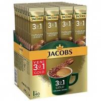 پودر قهوه فوری 3 در 1 جاکوبز گلد بسته 40 عددی Jacobs Gold