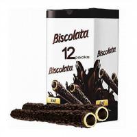 بسته 12 تایی شکلات بیسکولاتا رولی با مغز شکلات تلخ و کوکی