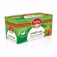 دمنوش چای سبز با دارچین و میخک 20 عددی دوغوش