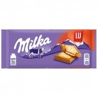 شکلات شیری با بیسکوئیت ال یو 87 گرمی میلکا Milka LU