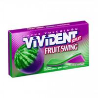 آدامس با طعم هندوانه و انگور ویویدنت 14 عددی Vivident Fruit Swing