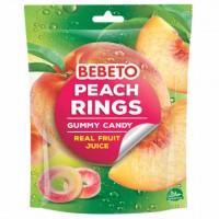 پاستیل ببتو مدل حلقه ای با طعم آبمیوه طبیعی هلو 60 گرم Bebeto