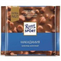 شکلات ریتر اسپرت فندق اکسترا ماکادامیا 100 گرمی Ritter Sport