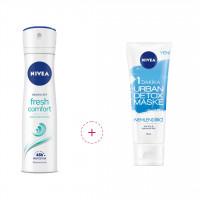 اسپری ضد تعریق زنانه نیوآ مدل Nivea Dry Fresh همراه ماسک صورت