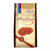 بیسکوئیت با روکش کارامل و شکلات روسی بسته نیم کیلویی