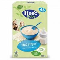 سرلاک شیر و برنج هیرو بیبی وزن 200 گرم Hero baby