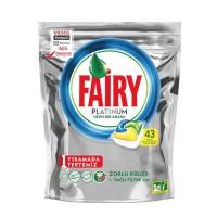 قرص ماشین ظرفشویی فیری fairy پلاتینیوم بسته 43 عددی
