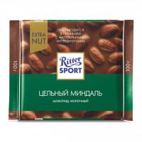شکلات ریتر اسپرت بادام اکسترا سبز 100 گرمی Ritter Sport