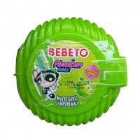 آدامس متری ببتو با طرح دختران پاور پف با طعم سیب ترش Bebeto Long Bubble Gum