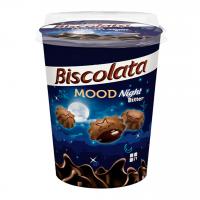 بیسکوییت بیسکولاتا شکلاتی با مغز شکلات تلخ لیوانی 125 گرم