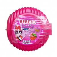 آدامس متری ببتو با طرح دختران پاور پف با طعم توت فرنگی Bebeto Long Bubble Gum