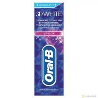 خمیردندان اورال بی سفیدکننده تری دی وایت 75 میلی لیتر Oral B 3D White Vitalize