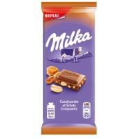 شکلات میلکا روسی با بادام و کارامل 90 گرمی Milka Peanut and Crispy Caramel