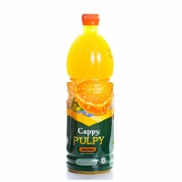 آبمیوه پرتقال کاپی حاوی تکه های میوه 1 لیتری Cappy