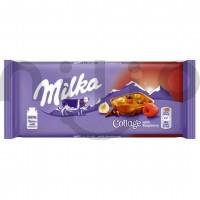 شکلات با مغز فندق و تمشک 93 گرمی میلکا Milka Collage