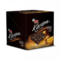 شکلات تلخ اتی کارام 54% با مغز بادام و پرتقال بسته 6 عددی