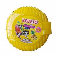 آدامس متری ببتو با طرح دختران پاور پف با طعم میوه های استوایی Bebeto Long Bubble Gum