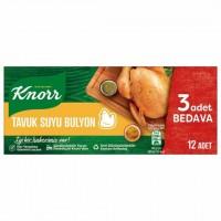 عصاره آب مرغ کنور 12 عددی Knorr Tavuk Suyu Bulyon