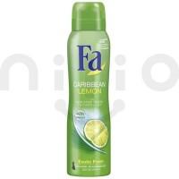 اسپری ضد تعریق زنانه فا 150 میلی لیتر مدل Fa Caribbean Lemon-150