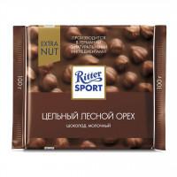 شکلات ریتر اسپرت فندق اکسترا قهوه ای 100 گرمی Ritter Sport