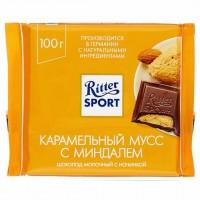 شکلات ریتر اسپرت کاراملی بادامی 100 گرمی Ritter Sport