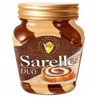 شکلات صبحانه دو رنگ کرم فندق و شکلات 350 گرمی سارلا Sarelle Duo
