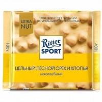 شکلات ریتر اسپرت شکلات سفید فندق اکسترا 100 گرمی Ritter Sport