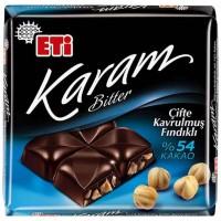 شکلات تلخ اتی کارام فندقی 54% Eti Karam