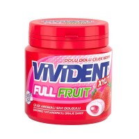 آدامس ویویدنت توت فرنگی  90 گرمی Vivident Full Fruit Strawberry Flavored Chewing Gum