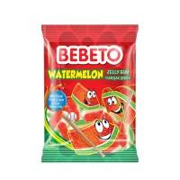 پاستیل شکری ببتو هندوانه وزن 80 گرم Bebeto Watermelon Jelly Gum