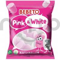 پاستیل مارشمالو ببتو سفید و صورتی 70گرمی Bebeto