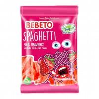 پاستیل ببتو اسپاگتی با طعم توت فرنگی برای گیاهخواران 60گرم