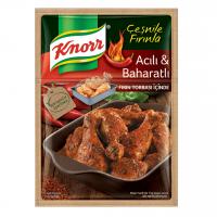 چاشنی ران مرغ کنور با طعم تند و آتشین 34 گرم Acili Baharatli Knorr