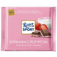 شکلات ریتر اسپرت ماست و توت فرنگی 100 گرمی Ritter Sport