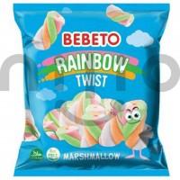 مارشمالو ببتو مدل رنگین کمان پیچی 70گرم Bebeto rainbow twist