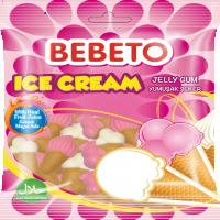 پاستیل ببتو مدل بستنی 80 گرمی با طعم آب میوه Bebeto Ice Cream Jelly Gum 80 Gr