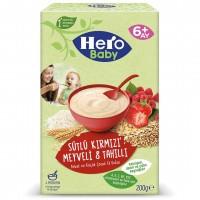 سرلاک شیر و توت فرنگی و تمشک و جو هیرو بیبی وزن 200 گرم Hero baby