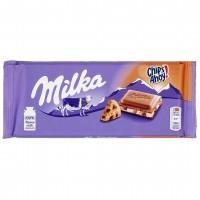 شکلات با مغز کوکی و شکلات 100 گرمی میلکا Milka Chips Ahoy
